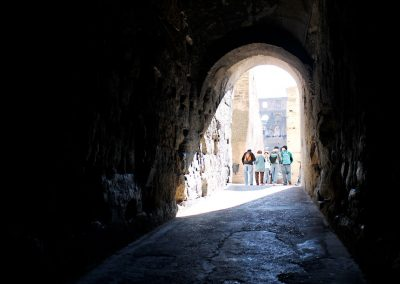 I love the contrast of this tunnel at the Colosseum.