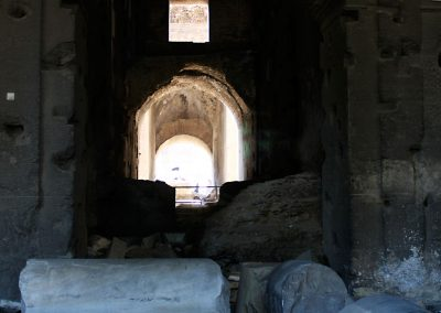 Beautiful arch in the runs of the Colosseum.