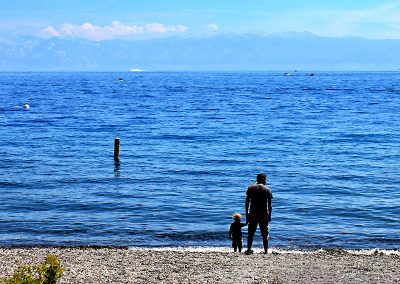 I caught this beautiful father son moment at Lake Tahoe.