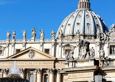 The dome at St. Peter's Basilica.