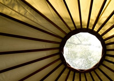 I love the view of the Yurt ceiling. I would stare up at it every night and morning.