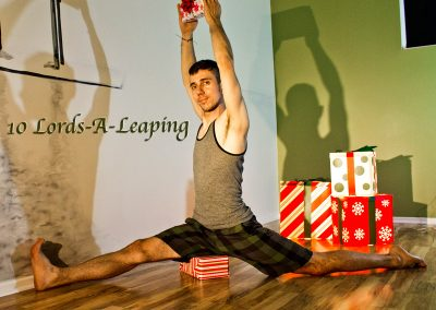 10 Lords-A-Leaping - Hanumanasana