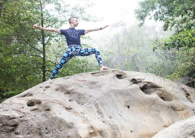 Feeling strong, earthy and grounded on the boulders.