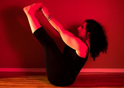 Fire is strong. Fire is powerful. Fire is transformation. All are here in this boat pose variation.