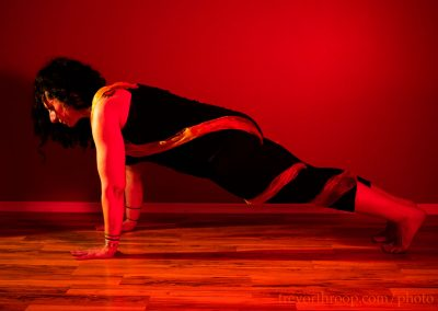 The strength and power of fire is found in our center, in our core. Plank pose is a total burner for the core.