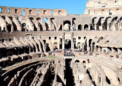 The Colosseum spread out before us.