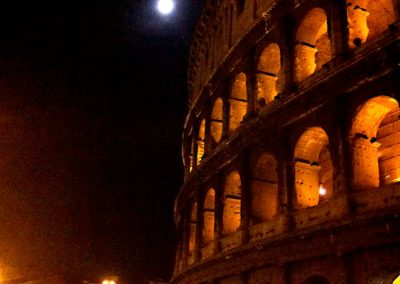 Our first view of the Colosseum was this one. Coming up from a subway tunnel our 2nd night in town. I had to capture it with my iPhone4