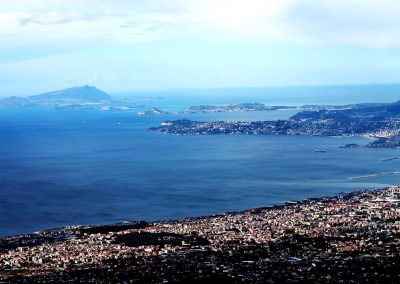 The view of Naples from atop Vesuvius.