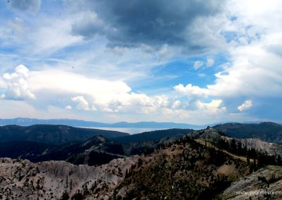 A beautiful view from High Camp. You can see Lake Tahoe in the distance.