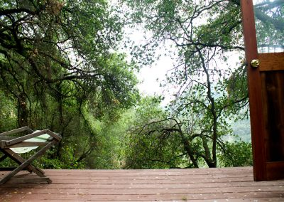 The view from the porch just outside my Yurt. What a place to stay.