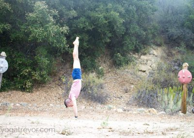 I actually held this handstand for about 20 seconds!